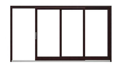 Drewniane, tarasowe drzwi unoszono-przesuwne Drutex Softline HS 78