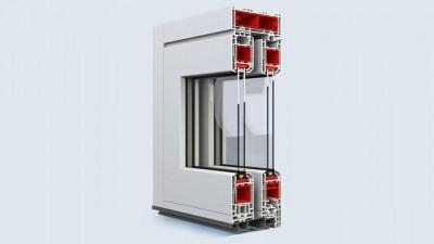 Eko-Okna drzwi unoszono-przesuwne HST 70 wykonane z PCV