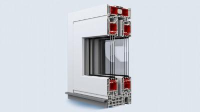Eko-Okna drzwi unoszono-przesuwne HST 85 wykonane z PCV