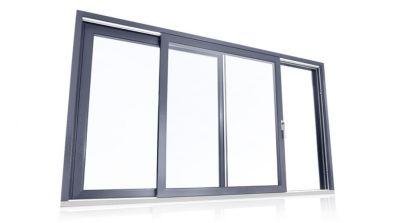 Tarasowe drzwi unoszono-przesuwne HST z PVC Eurocolor