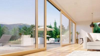 Fakro InnoView HST drewniano-aluminiowe drzwi przesuwne
