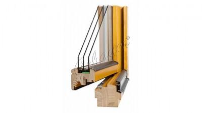 Gebauer Passiv Lux 92 okno drewniane