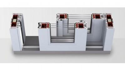 Igloopol System Igloo HST 85 Premium tarasowe drzwi przesuwne z PCV