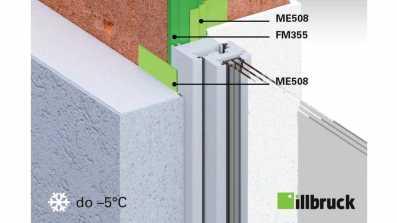 Montaż okien w zimę do temperatury -5 stopni Celsjusza z wykorzystaniem folii illbruck ME508 oraz pianki illbruck FM355