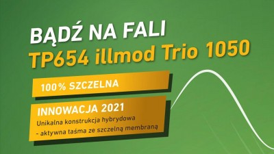 Hybrydowa taśma wielofunkcyjna illbruck TP654 illmod TRIO 1050 - Nowość 2021