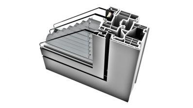 Internorm KV 350 okno PCV-Aluminium z zintegrowaną żaluzją Home Pure
