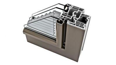 Internorm KV 350 okno PCV-Aluminium z zintegrowaną żaluzją Ambiente