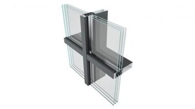 Szklana fasada FA 50N HI od Yawal