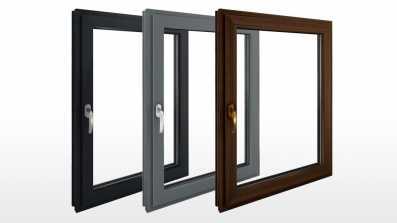 Kolory okien Vetrex. Od lewej: ciemnoszary/antracytowy, srebrny szary, ciemny dąb