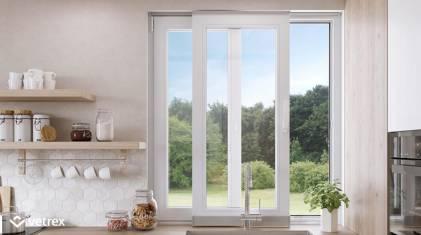 Przesuwne okno w kuchni