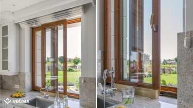 Kuchnia - okno przesuwne Vetrex Patio Light