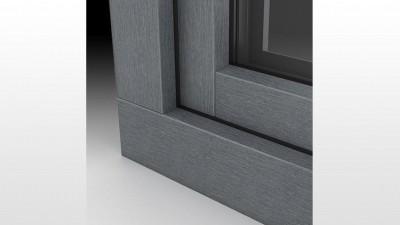 Okna PCV Alu Look w kolorze Metbrush Antracyt - MS więcej niż OKNA