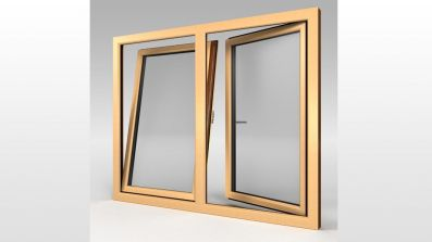Okno dwuskrzydłowe ze stałym słupkiem MS Evolution [82]