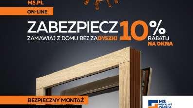 Bezpieczny zakup okien online z MS więcej niż OKNA. 10% rabatu na okna.