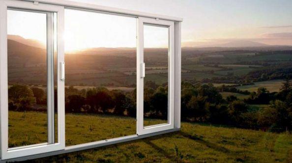 Okna balkonowe HST, montaż z użyciem szyny