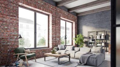 Salon wyposażony w okna Oknoplast Prismatic