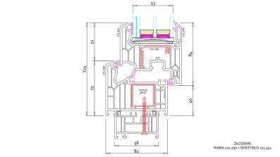 Okno Vetrex V82 ProSafe rysunek techniczny