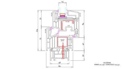 Okno Vetrex V82 rysunek techniczny