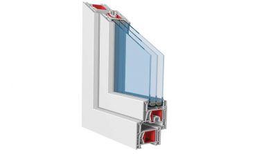 Okno-Pol Kömmerling 76 AD okno PVC