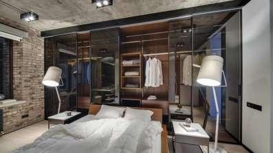 Sypialnia w stylu industrialnym - fot. OknoPlus