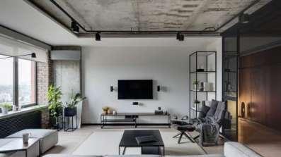 Salon w stylu industrialnym - fot. OknoPlus
