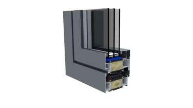 Okno aluminiowe Reveal OknoPlus - przekrój