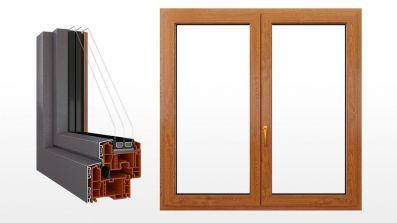 Okno PVC Petecki Future Design 86 MD z nakładką aluminiową
