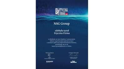 NSG Group - etyczna firma - dyplom