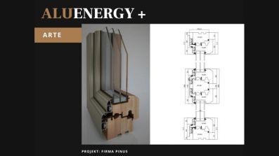 Pinus AluEnergy+ Arte okno drewniano-aluminiowe