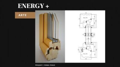 Pinus Energy+ Arte okno drewniane
