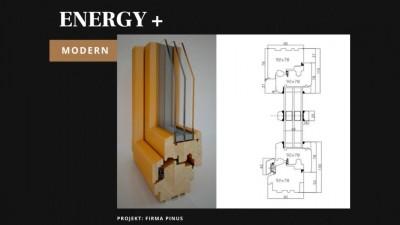 Pinus Energy+ Modern okno drewniane