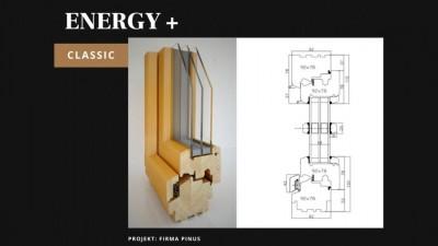 Pinus Energy+ Classic okno drewniane