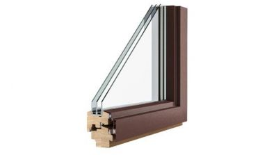 Pol-Skone C Plus Alu Effect okno drewniane