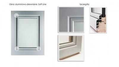 Ronkowski Gemini Soft Line okna drewniano-aluminiowe