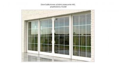 Ronkowski HKS drewniane drzwi uchylno-przesuwne na taras i balkon