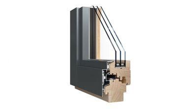 Sokółka Thermo 80 Alu okna drewniano-aluminiowe