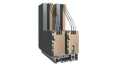 Sokółka Thermo HS Alu tarasowe drzwi drewniano-aluminiowe HST