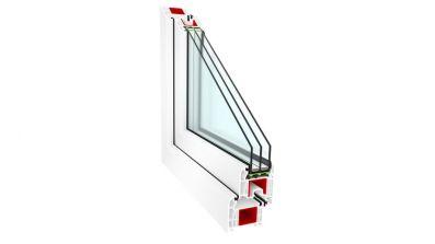 Okno PCV Sonarol Clasictherm białe z szybą dwukomorową