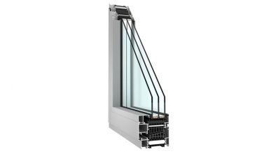 Aluminiowe okno Sonarol MB-104 dedykowane do domów energooszczędnych i pasywnych