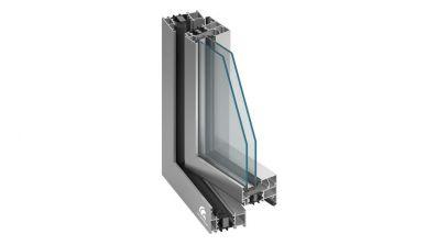 Okno aluminiowe Sonarol MB-70 HI na profilu Aluprof
