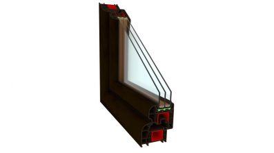 Okno PCV Sonarol Optitherm z szybą dwukomorową