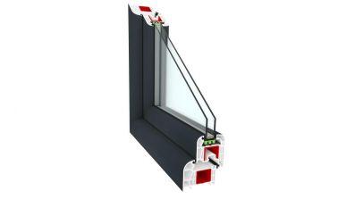 Okno PCV Sonarol Optitherm antracytowe