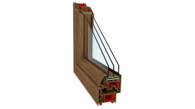 Okno energooszczędne Sonarol Perfectherm w kolorze winchester
