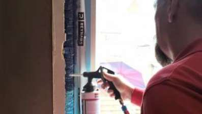 Wymiana okna z wykorzystaniem powłoki Soudatight SP Gun