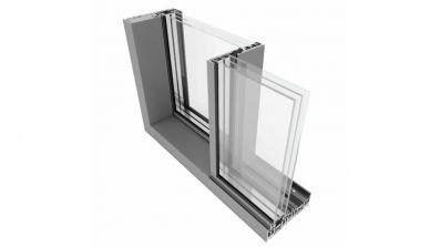 Cienkoramowe aluminiowe drzwi przesuwne Yawal MoreView