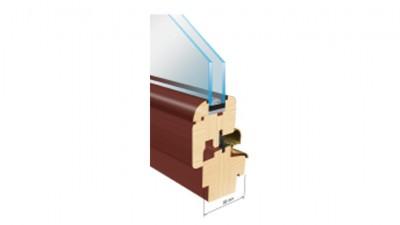 Thermofasada System 68mm okno drewniane