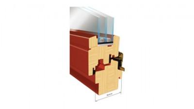 Thermofasada System 78mm okno drewniane