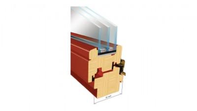 Thermofasada System 92mm okno drewniane