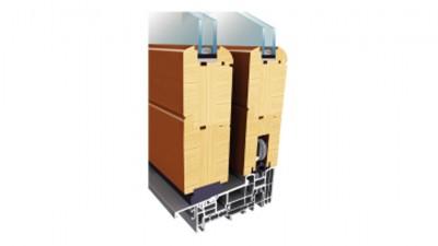 Thermofasada System HS drewniane drzwi tarasowe przesuwne