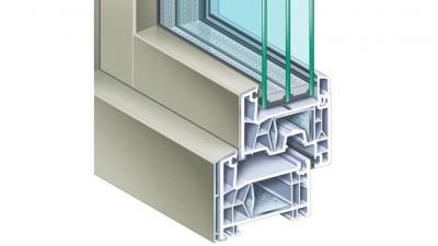 Tur-Plast Kömmerling 76 AluClip okno PCV